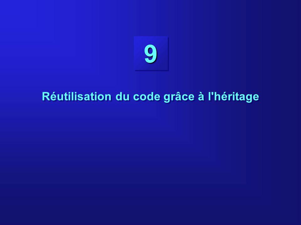 99 Réutilisation du code grâce à l'héritage