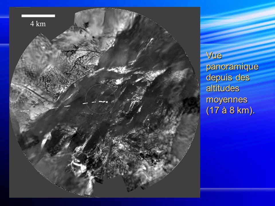 Vue panoramique depuis des altitudes moyennes (17 à 8 km).