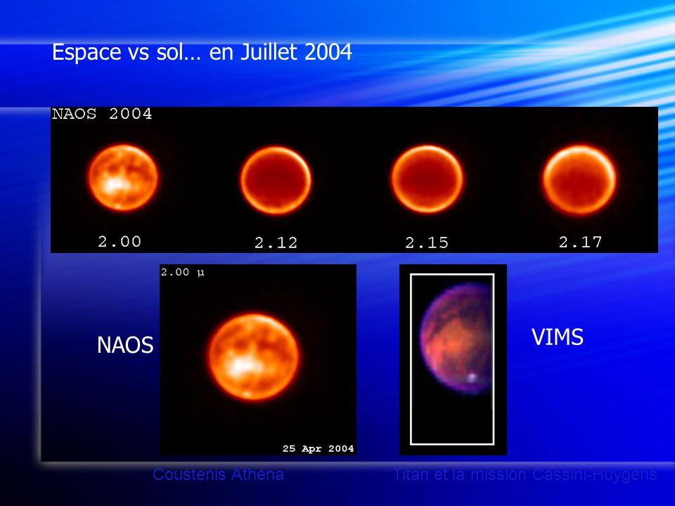 NAOS VIMS Coustenis Athéna Titan et la mission Cassini-Huygens Espace vs sol… en Juillet 2004
