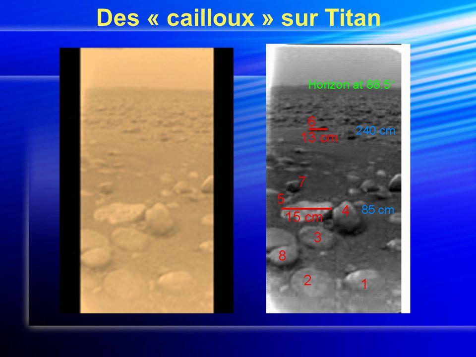 Des « cailloux » sur Titan