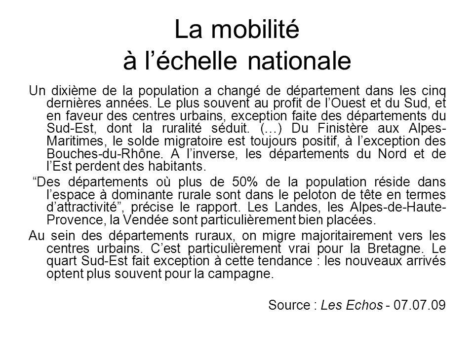 La mobilité à l'échelle régionale Croquis de la région Poitou- Charentes