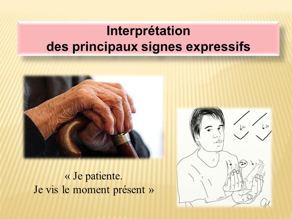 Interprétation des principaux signes expressifs Interprétation des principaux signes expressifs « J'ai mal, mais je m'accroche à la vie .