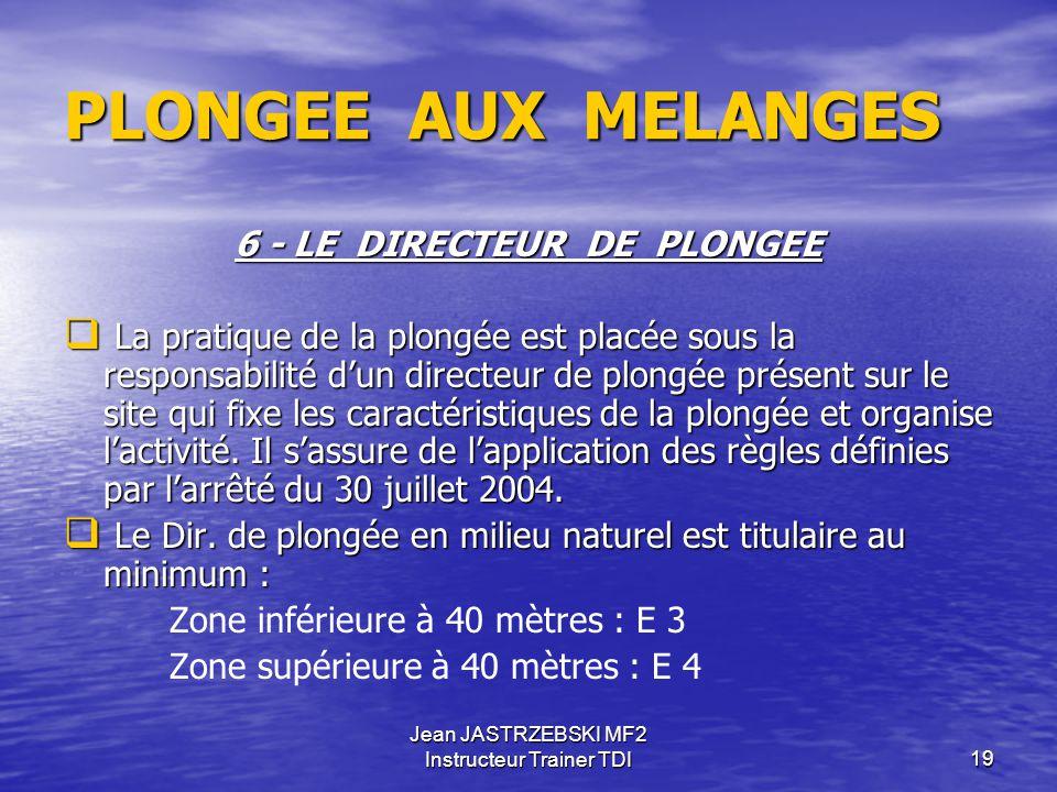 Jean JASTRZEBSKI MF2 Instructeur Trainer TDI18 PLONGEE AUX MELANGES 5 - ESPACE D'EVOLUTION ET CONDITIONS D'EVOLUTION   Plusieurs plongeurs qui effec