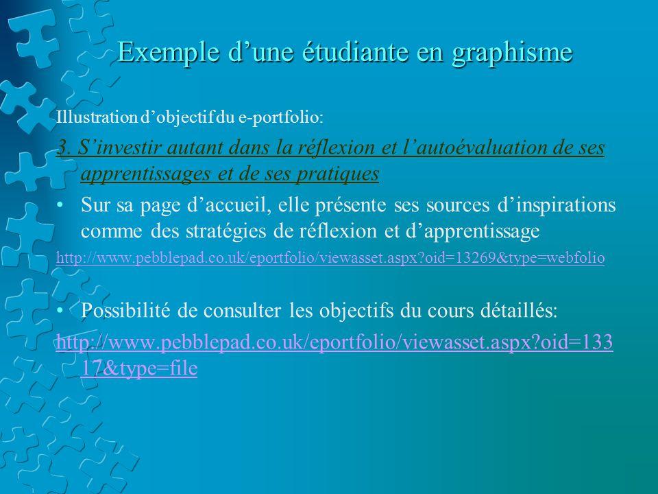 Illustration d'objectif du e-portfolio: 3.