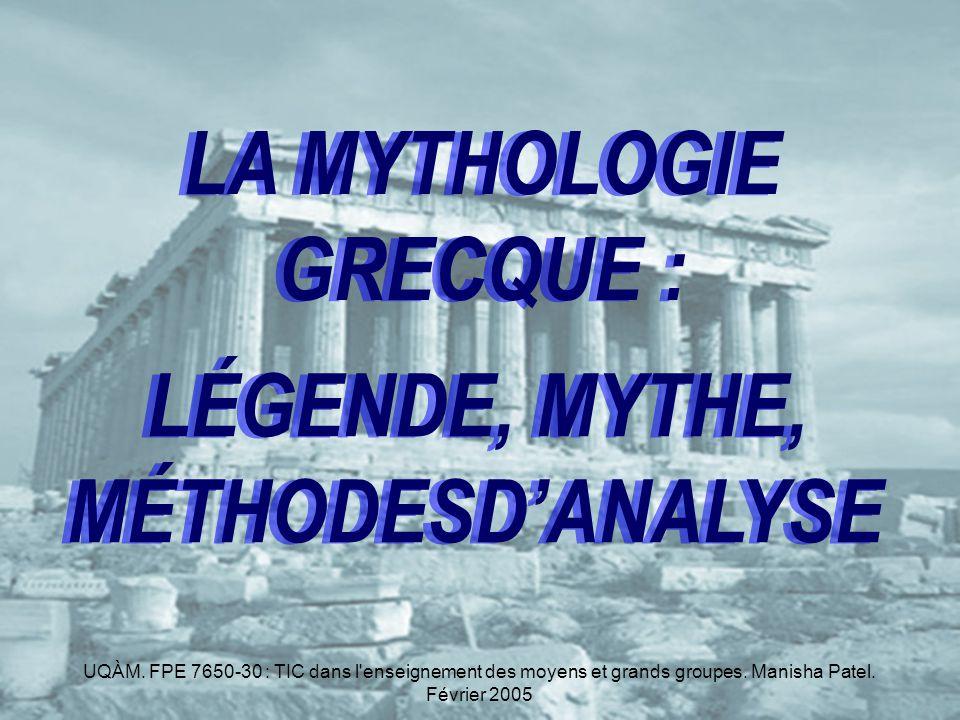 MYTHOLOGIE GRECQUE .