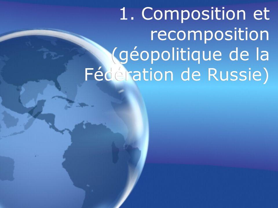 1. Composition et recomposition (géopolitique de la Fédération de Russie)