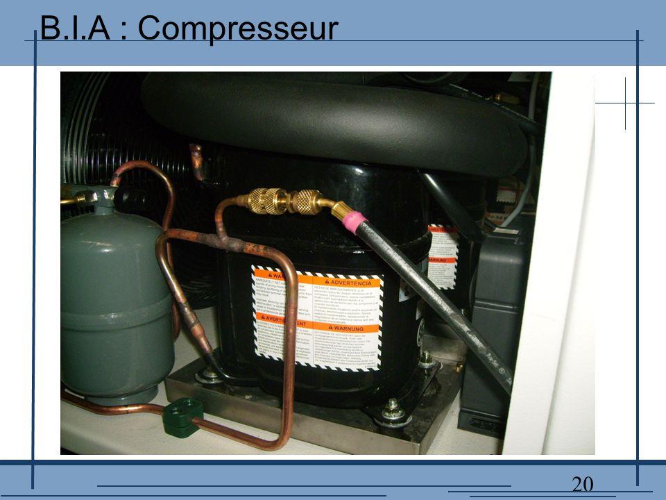 20 B.I.A : Compresseur