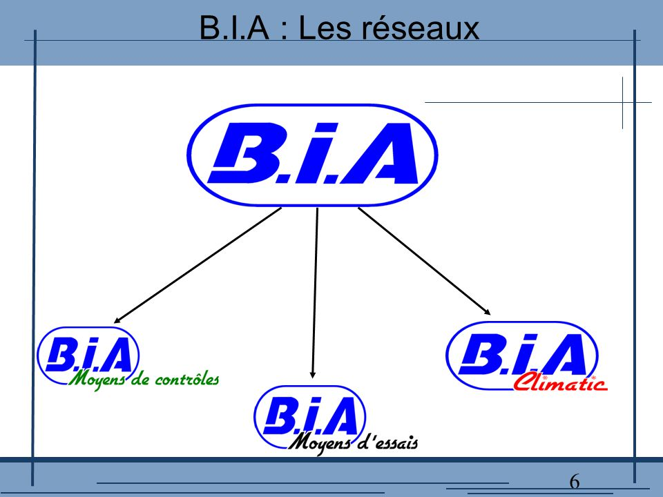 6 B.I.A : Les réseaux