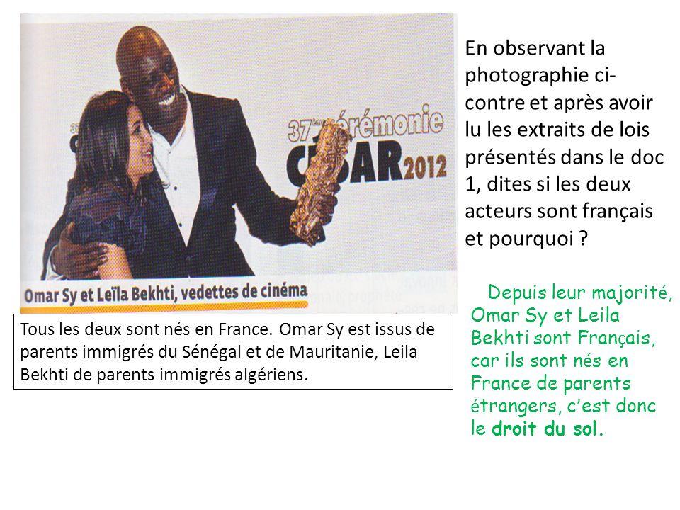Pour être citoyen français il faut posséder obligatoire- ment la nationalité française
