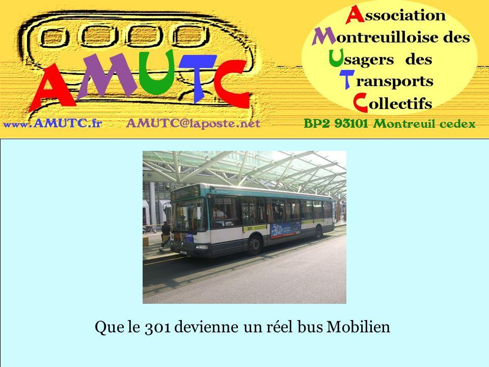Que le 301 devienne un réel bus Mobilien