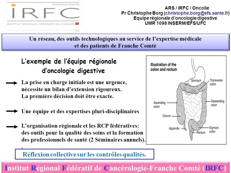 L'exemple de l'équipe régionale d'oncologie digestive Un réseau, des outils technologiques au service de l'expertise médicale et des patients de Franc