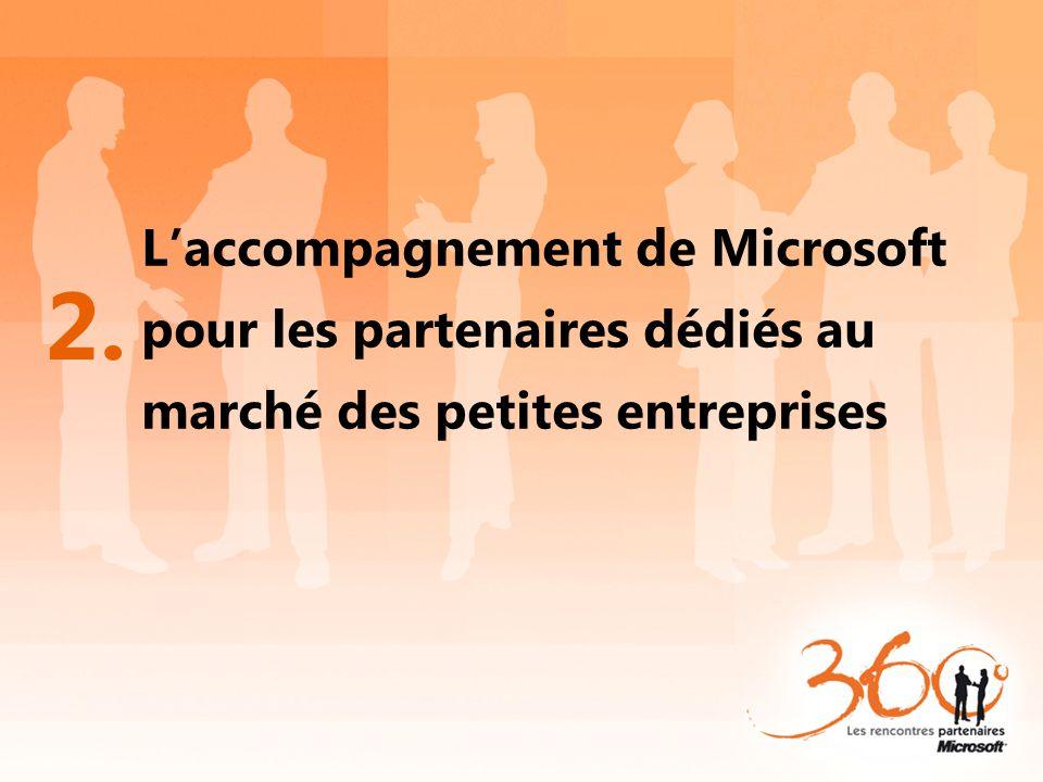 L'accompagnement de Microsoft pour les partenaires dédiés au marché des petites entreprises 2.
