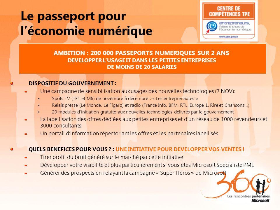 Le passeport pour l'économie numérique DISPOSITIF DU GOUVERNEMENT : Une campagne de sensibilisation aux usages des nouvelles technologies (7 NOV): Spo