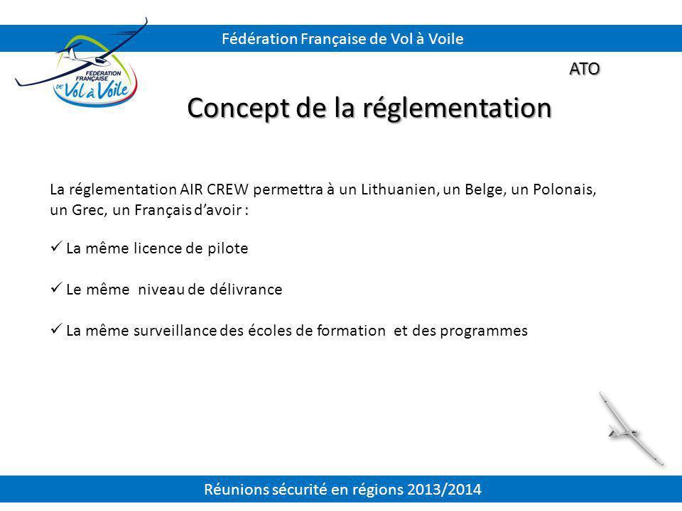 ATO Concept de la réglementation La réglementation AIR CREW permettra à un Lithuanien, un Belge, un Polonais, un Grec, un Français d'avoir : La même l