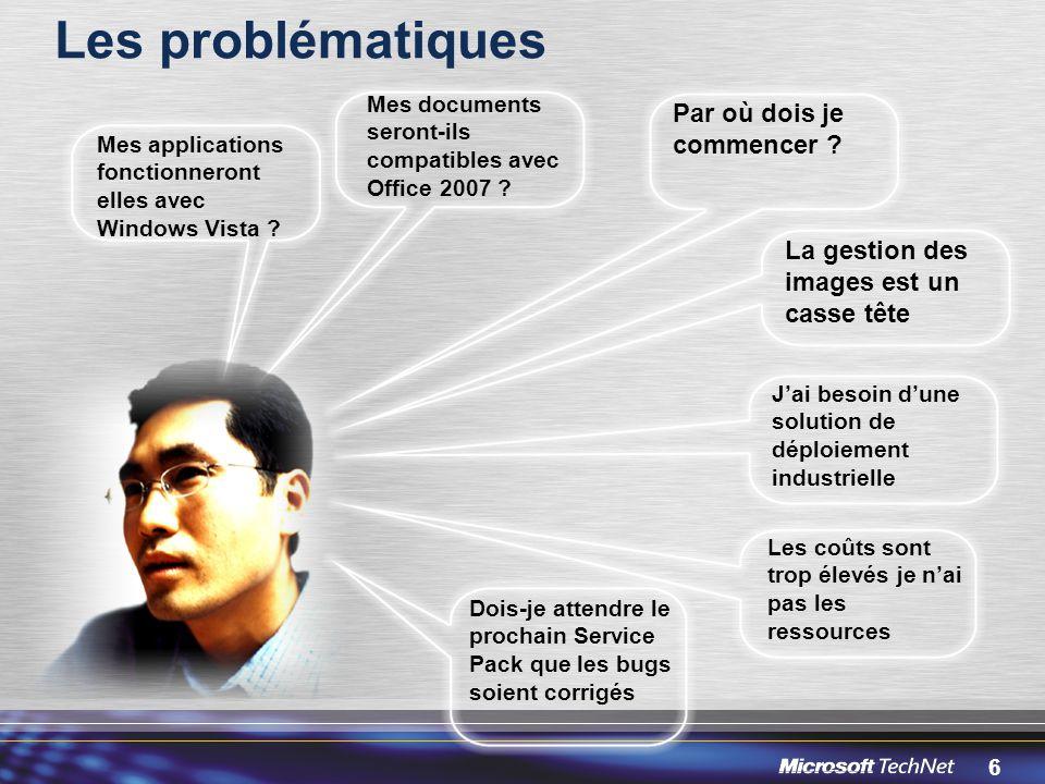 6 Les problématiques Mes applications fonctionneront elles avec Windows Vista .