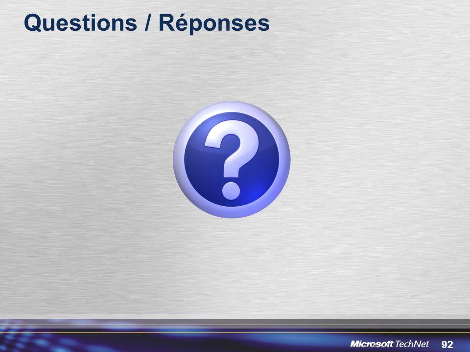 92 Questions / Réponses