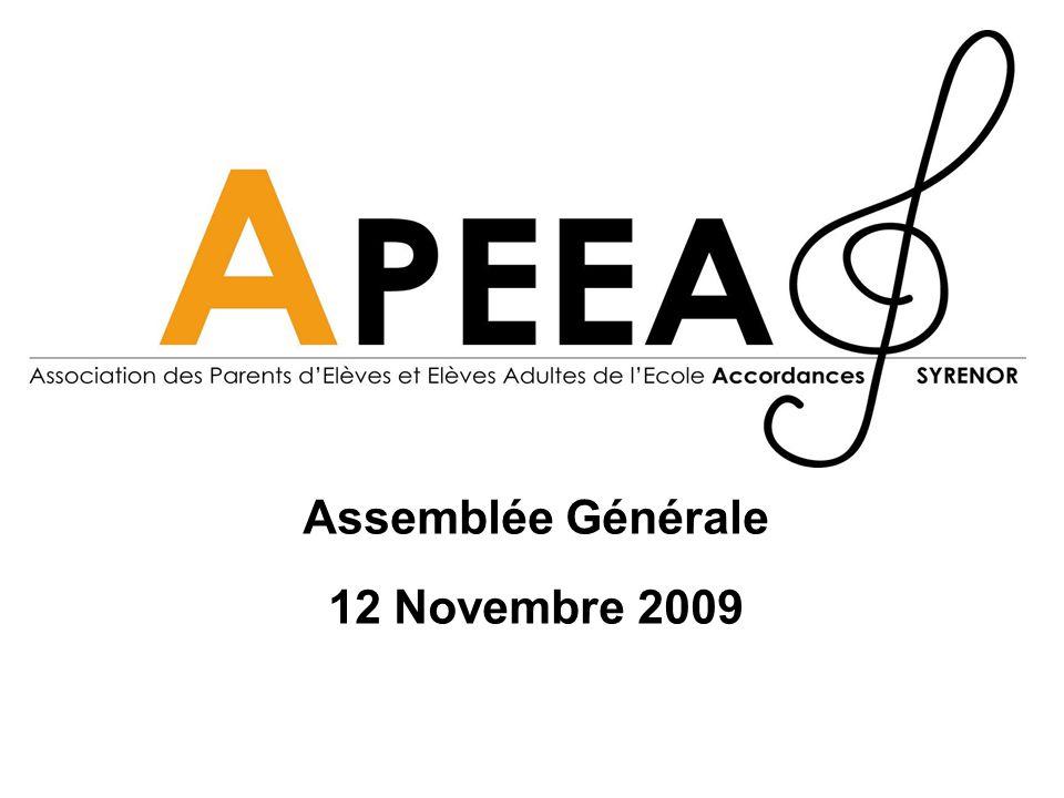 Assemblée Générale 12 Novembre 2009