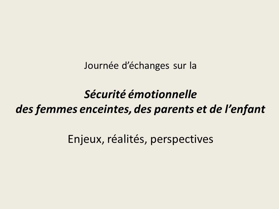 Journée d'échanges sur la Sécurité émotionnelle des femmes enceintes, des parents et de l'enfant Enjeux, réalités, perspectives
