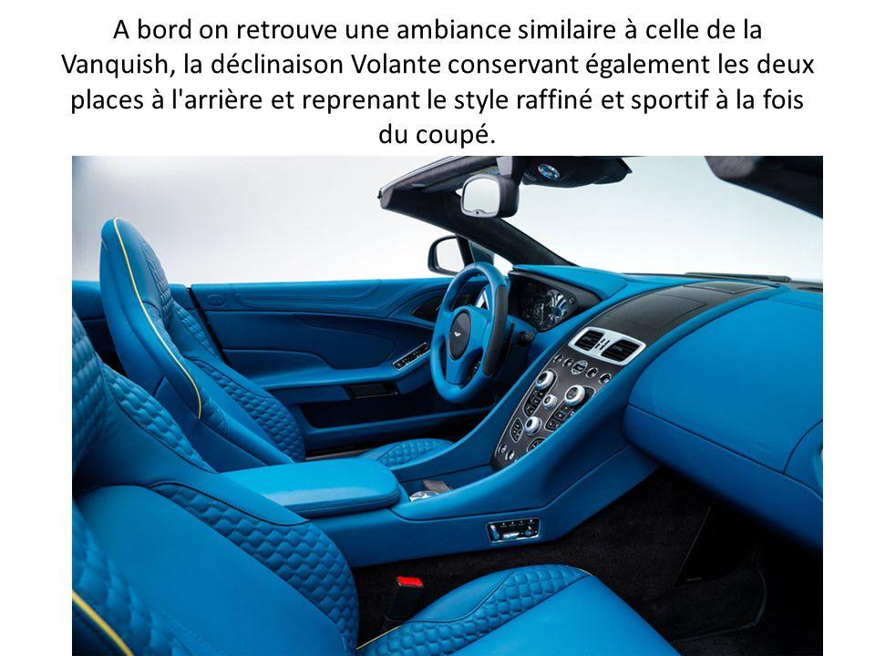 La structure a été logiquement renforcée, et Aston Martin affirme que sa rigidité torsionnelle est 14% plus importante que celle qu elle remplace, la DBS Volante.
