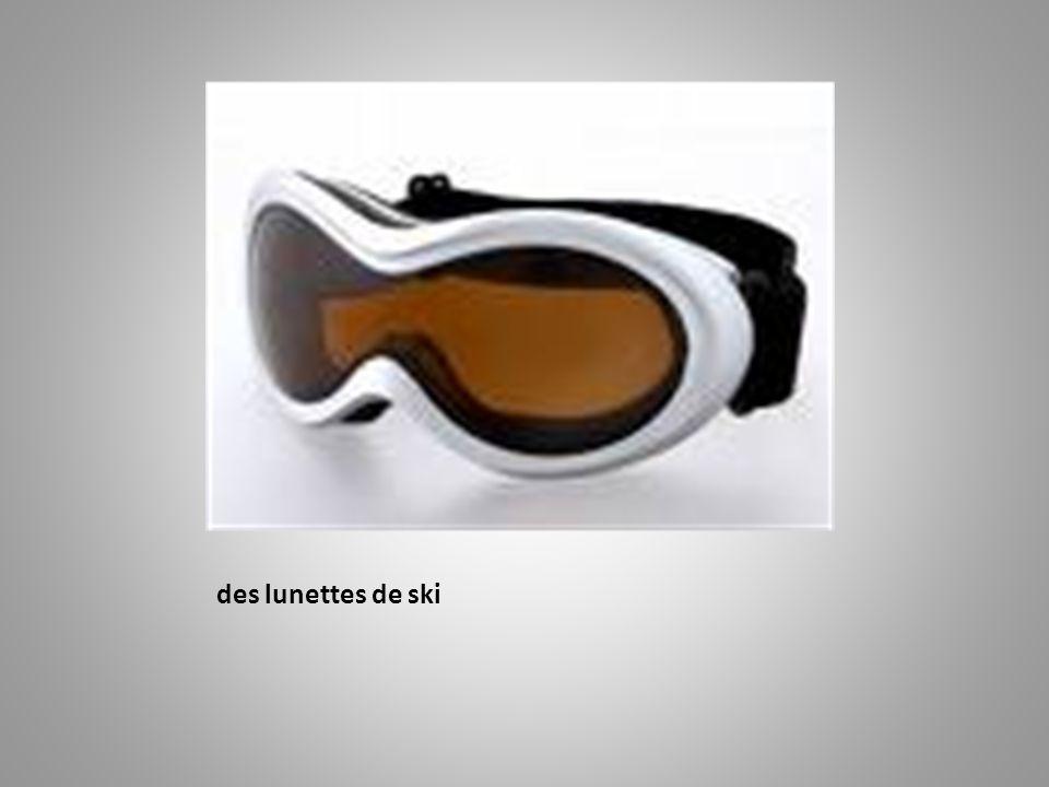 des lunettes de ski