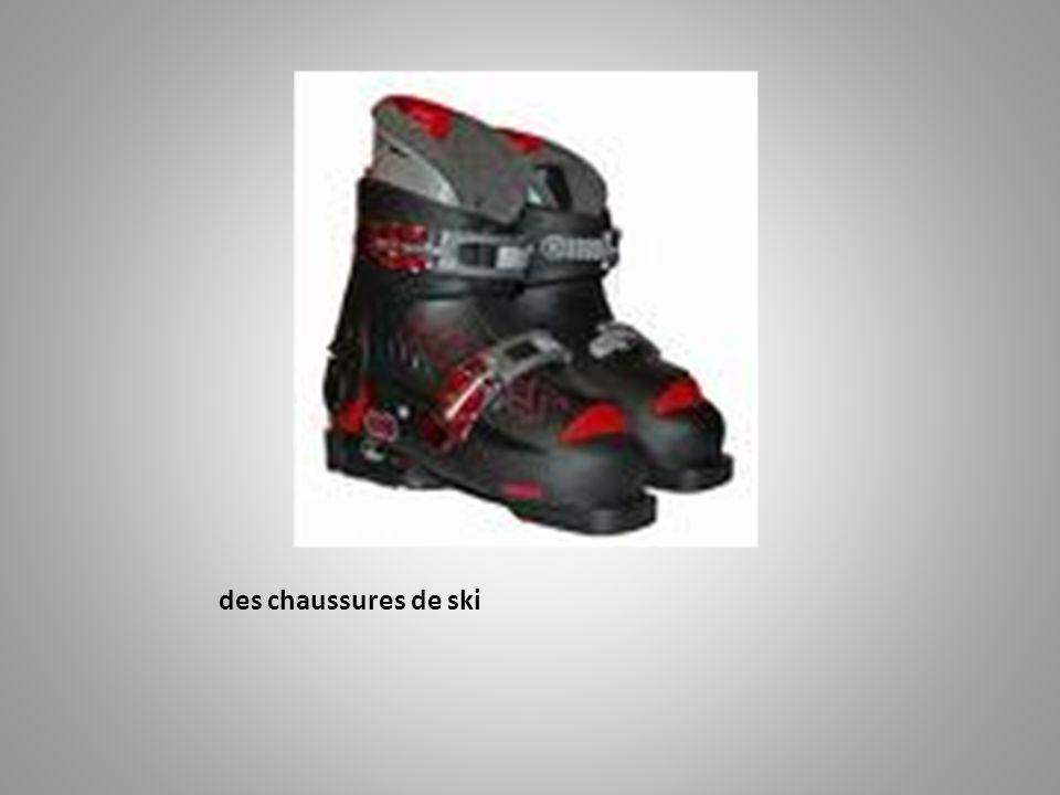 des chaussures de ski