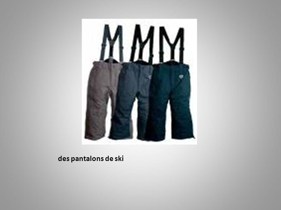 des pantalons de ski