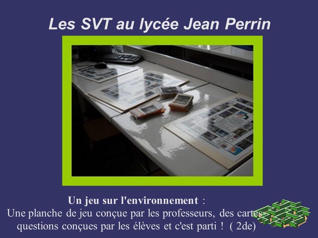 Les SVT au lycée Jean Perrin Un jeu sur l'environnement : Une planche de jeu conçue par les professeurs, des cartes- questions conçues par les élèves