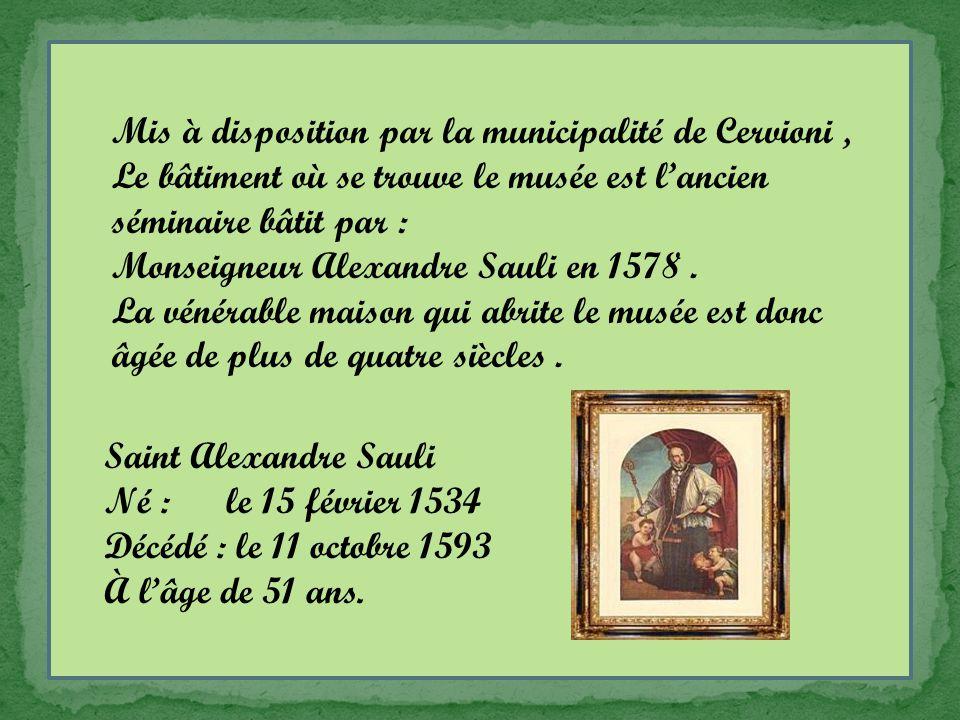 Mis à disposition par la municipalité de Cervioni, Le bâtiment où se trouve le musée est l'ancien séminaire bâtit par : Monseigneur Alexandre Sauli en 1578.
