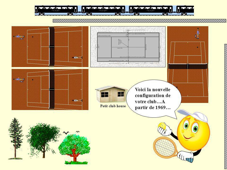 Petit club house Voici la nouvelle configuration de votre club…A partir de 1969…