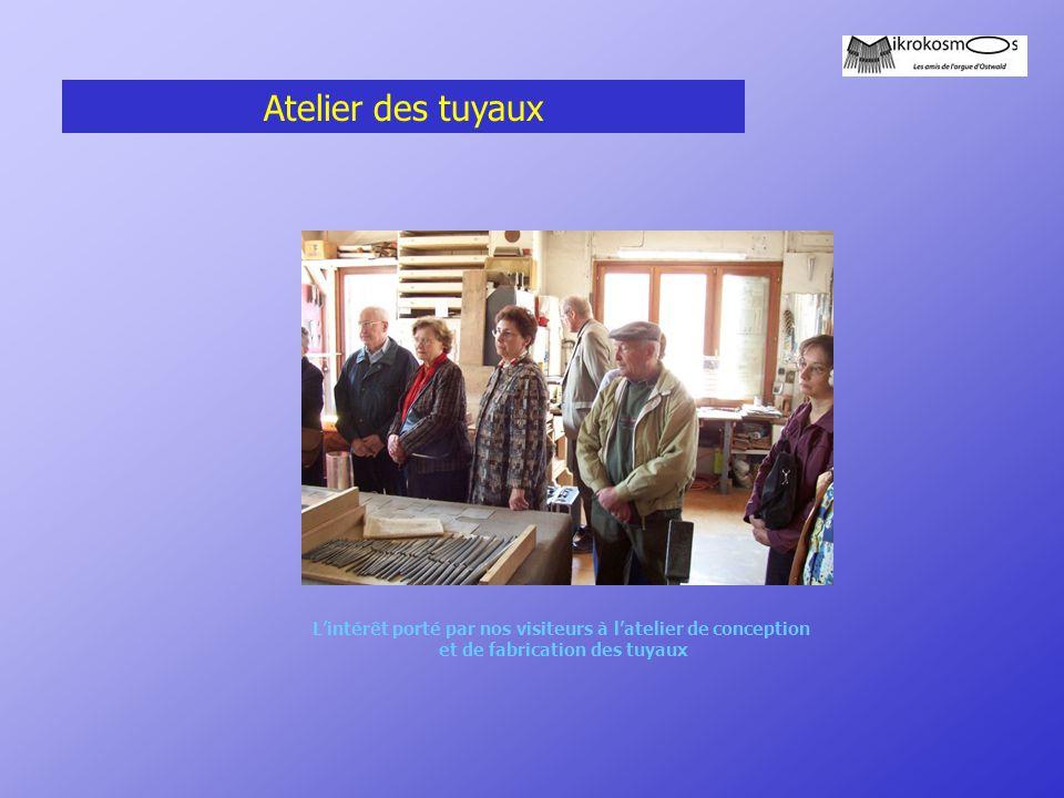 Atelier des tuyaux L'intérêt porté par nos visiteurs à l'atelier de conception et de fabrication des tuyaux