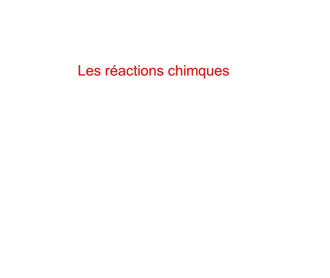 Les réactions chimques