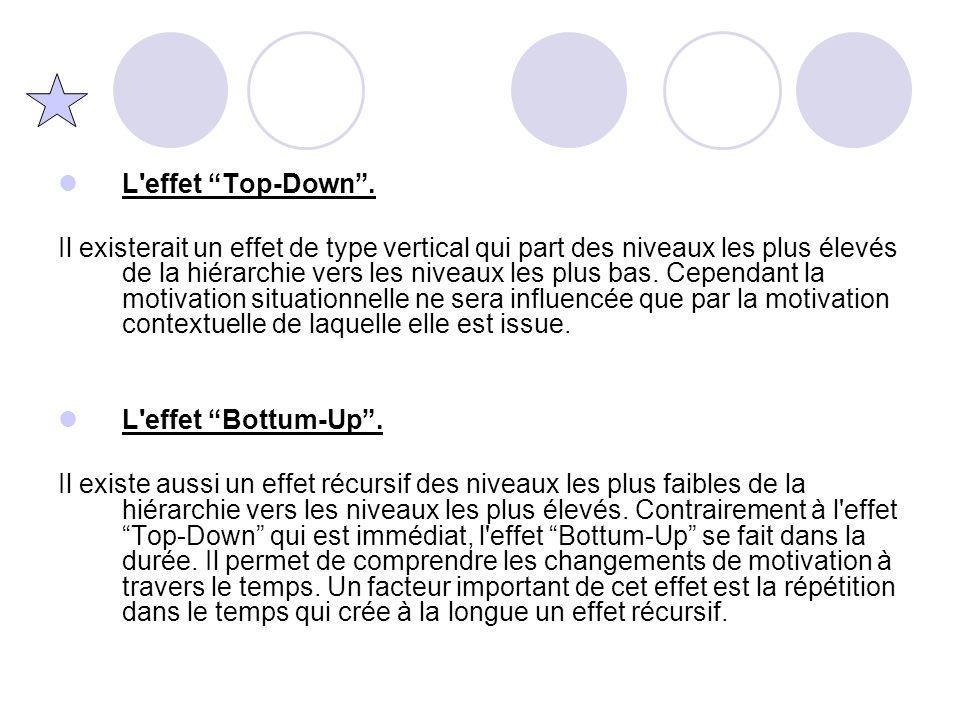 """L'effet """"Top-Down"""". Il existerait un effet de type vertical qui part des niveaux les plus élevés de la hiérarchie vers les niveaux les plus bas. Cepen"""