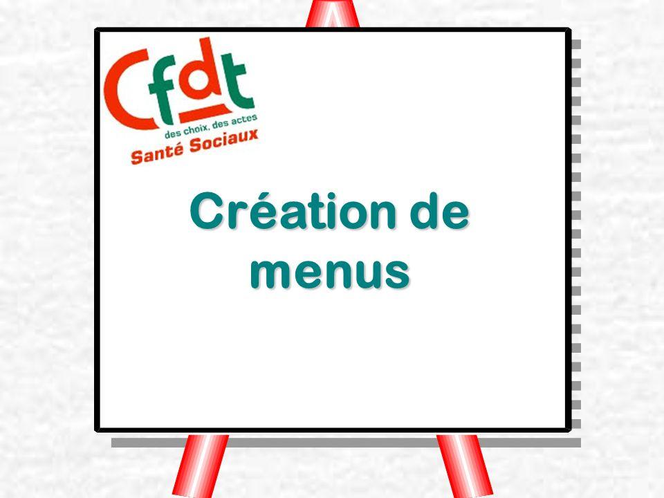 Création de menus