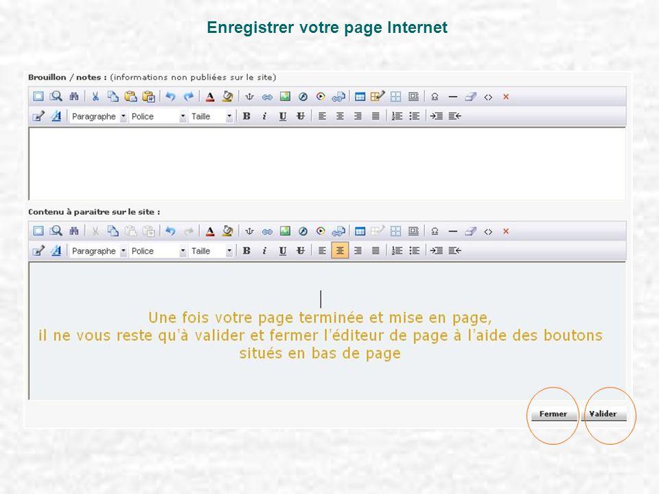 Enregistrer votre page Internet