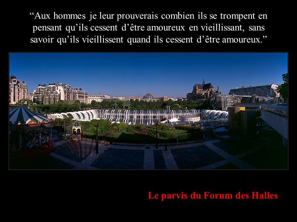 """Paris depuis le Pont des Arts au lever de lune """"Si Dieu me faisait cadeau d'un petit peu de vie je m'habillerais simplement, je m'allongerais à plat v"""