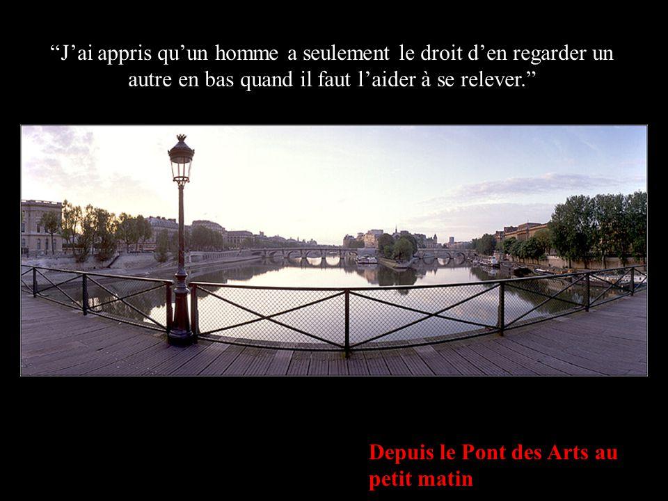 """L'Institut de France & le Pont Neuf depuis le Pont des Arts """"J'ai appris que lorsqu'un nouveau-né serre pour la première fois dans sa petite main le d"""