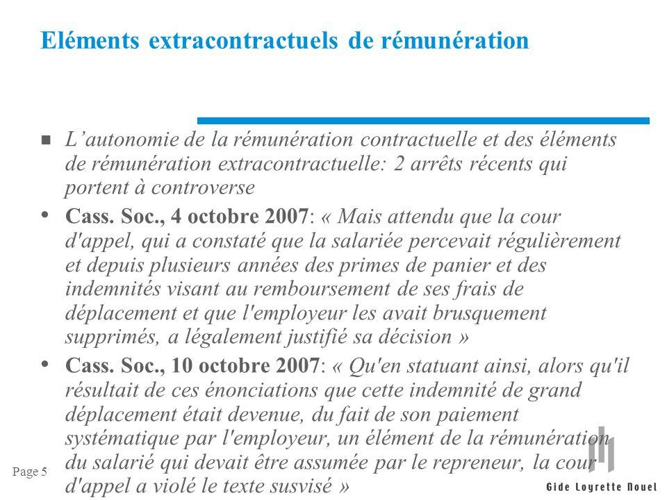 Page 6 Rémunération variable et des clauses d objectifs n La validité des clauses de rémunération variable et des clauses d objectifs Cass.