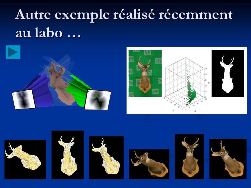Autre exemple réalisé récemment au labo …