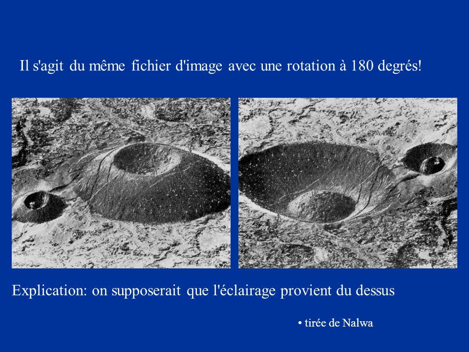 Il s'agit du même fichier d'image avec une rotation à 180 degrés! tirée de Nalwa Explication: on supposerait que l'éclairage provient du dessus