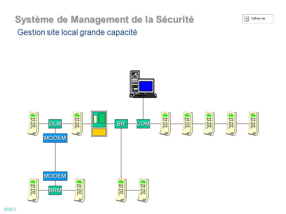 COM Système de Management de la Sécurité Gestion pour site local simple SMS/2
