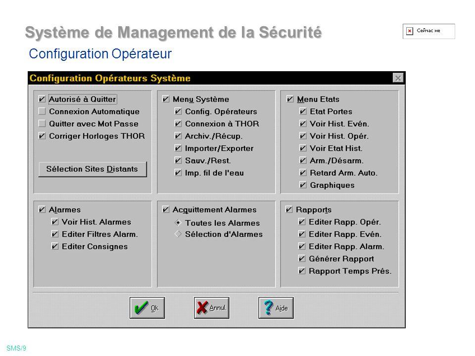 Système de Management de la Sécurité Menu Edition de badge SMS/19