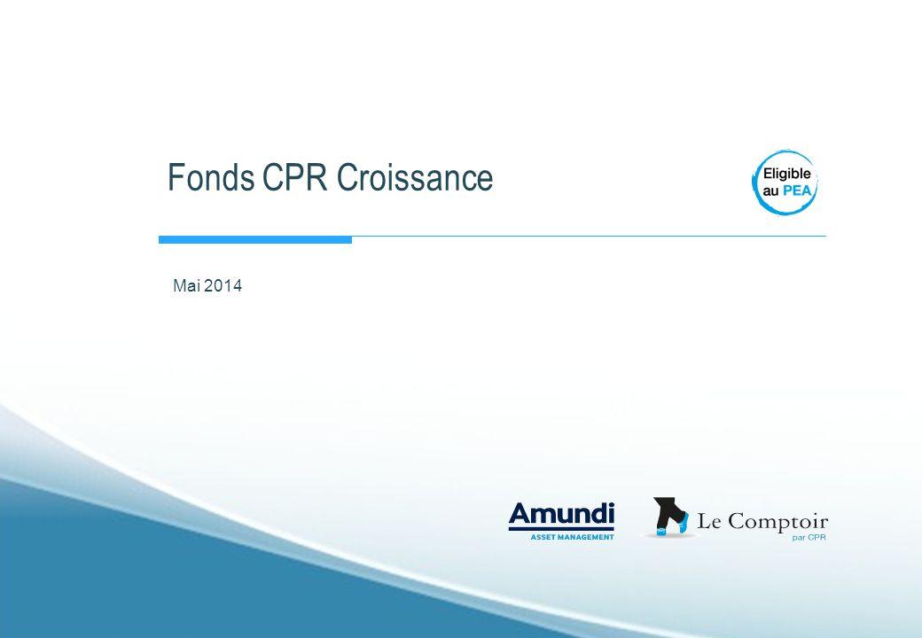 AMUNDI – LE COMPTOIR PAR CPR CPR Croissance Prudente Positionnement concurrentiel (à fin avril 2014) Source : CPR AM - Morningstar, Catégorie « Europe OE EUR Cautious Allocation - Global » I 32 I