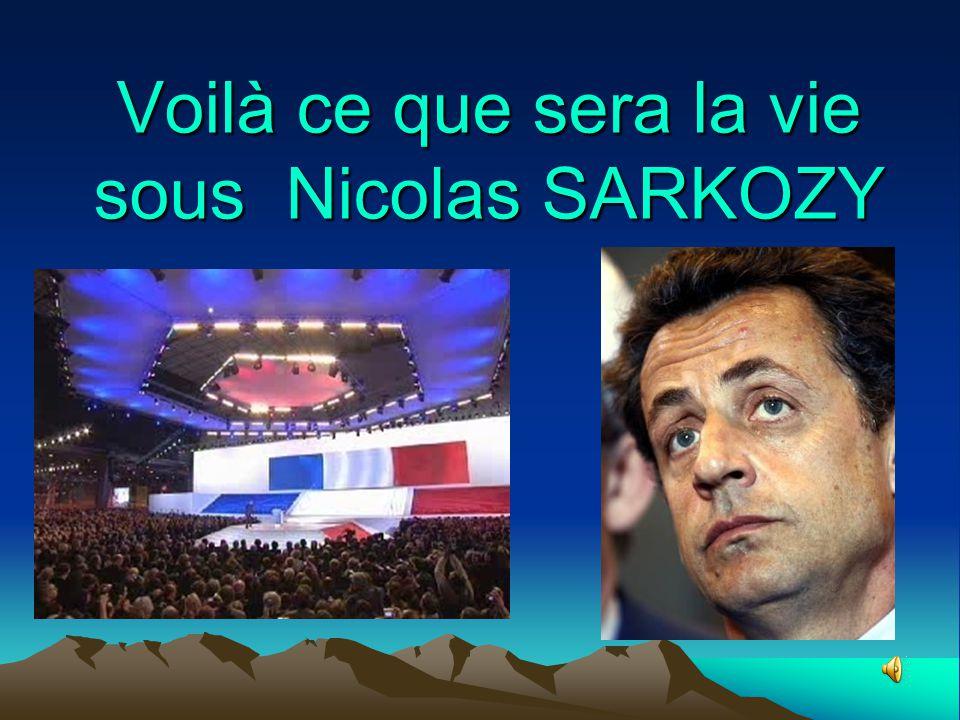 Voilà ce que sera la vie sous Nicolas SARKOZY