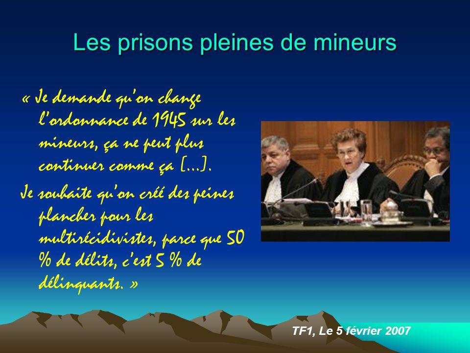 Les prisons pleines de mineurs « Je demande qu'on change l'ordonnance de 1945 sur les mineurs, ça ne peut plus continuer comme ça […].