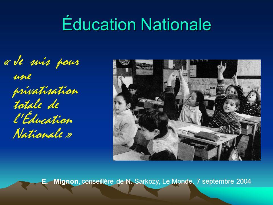Éducation Nationale « Je suis pour une privatisation totale de l Éducation Nationale » E.