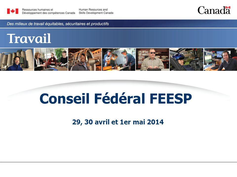 Conseil Fédéral FEESP 29, 30 avril et 1er mai 2014