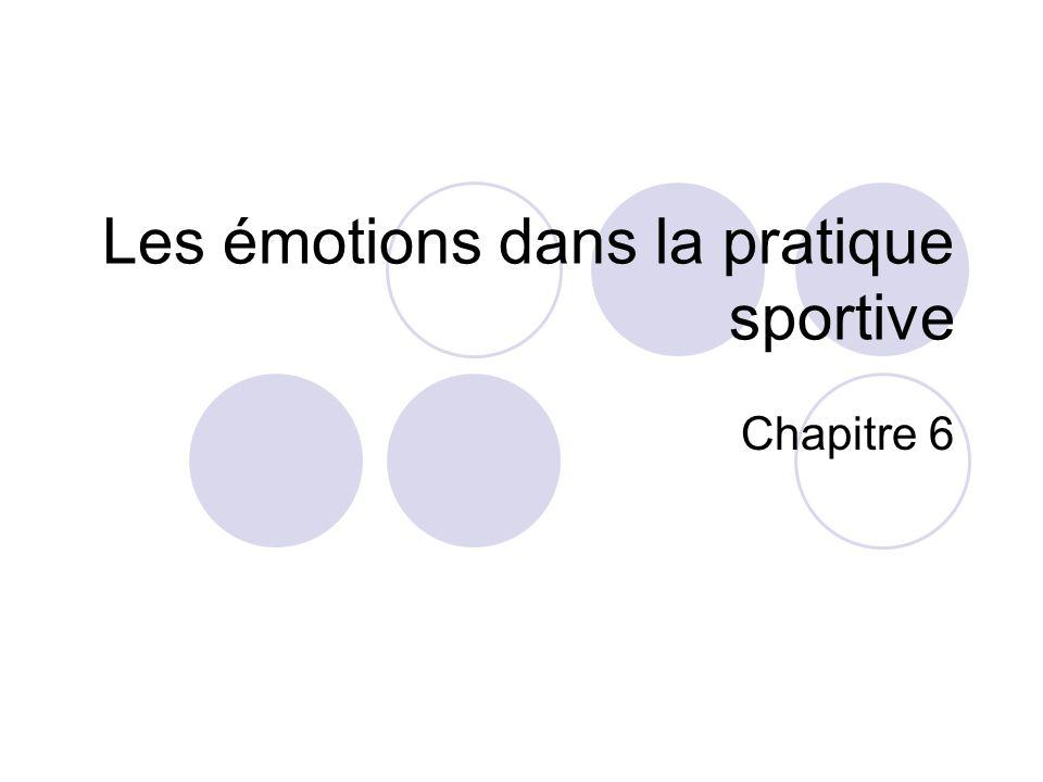 Les émotions dans la pratique sportive Chapitre 6