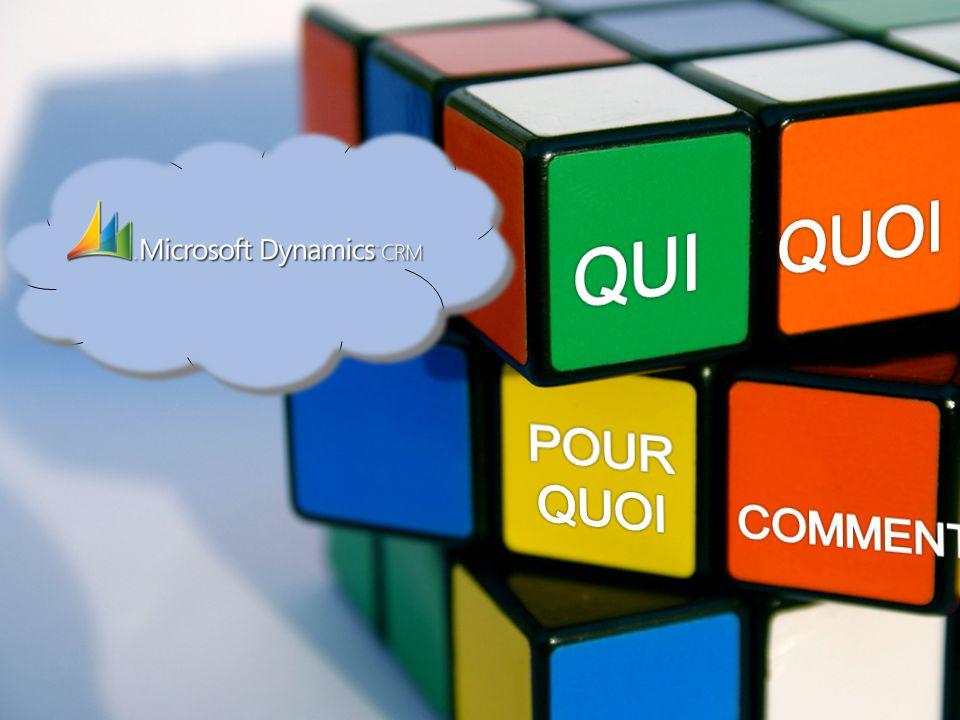 Le périmètre de Microsoft Dynamics CRM Gestion de campagnes marketing Gestion des forces de vente Gestion du service clients et du SAV