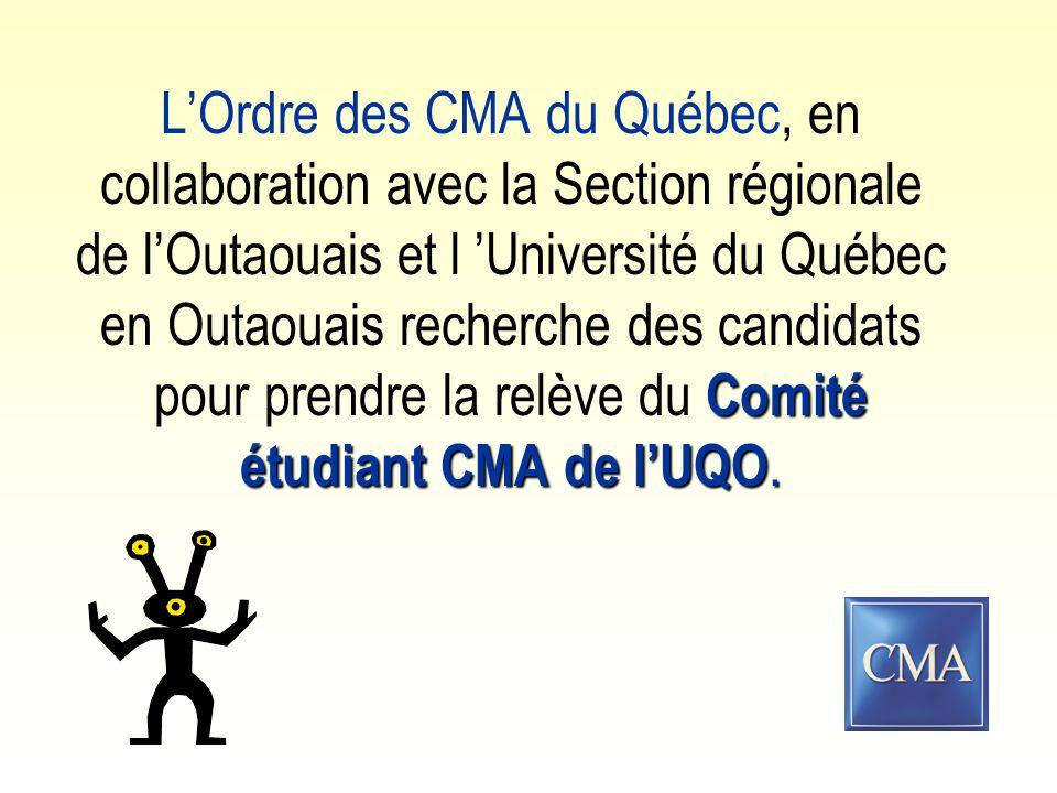 Comité étudiant CMA de l'UQO.