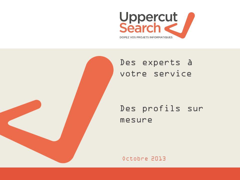 Des experts à votre service Des profils sur mesure Octobre 2013